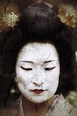portrait (hmong135) Tags: portrait japanese geisha texture people woman