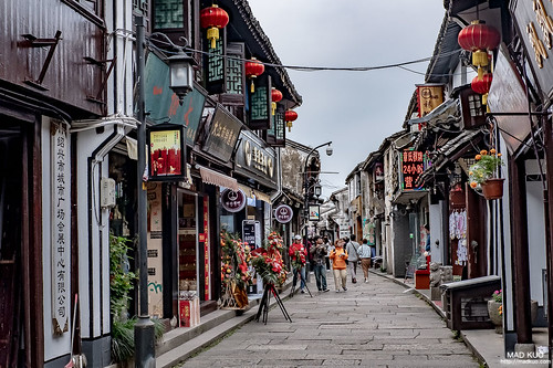 紹興倉橋直街,雖是老街但不像烏鎮那樣老。