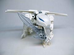 Whitewing (awpulley) Tags: lego moc creation space robot scifi throwbot slizer bionicle snake scimitar white