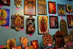 The Blessed Virgin & Saints (Solista*) Tags: albuquerque marry saints catholic southwest usa newmexico nowymeksyk nm painting picture colours portrait face woman art trip travel journey kolor podróż obrazy obraz galeria