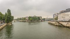 Crossing Pont d'Arcole (cunningba) Tags: 2014 europe france hôteldeville notredamedeparis paris pontdarcole seine ©2014barrycunningham îlesaintlouis îledelacité