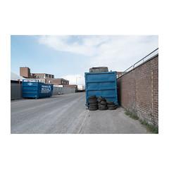 Recycle (John Pettigrew) Tags: rubber lines tamron d750 nikon decay industrial tires skips roads space mundane topographics trash urban imanoot rubbish streets ordinary boring banal deserted tarmac tyres angles documenting johnpettigrew