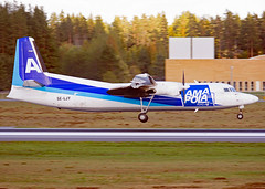 SE-LJY (Skidmarks_1) Tags: seljy amapola fokker50 cargo freighter engm osl oslogardermoenairport norway aviation aircraft airport airliners