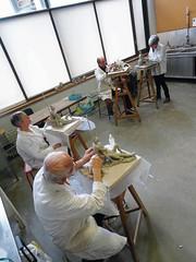 #GrandPublic/Sculpture, terre/ E. Mies Wallet (esamCaenCherbourg) Tags: esamcaencherbourg grandpubliccaen 201819 elisabethmieswallet atelieradultes modelage