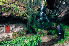 Wasserfall zum Liebestörchen <3 (Planitzer Pictures) Tags: wasserfall lichtenhain waterfall grün pflanzen blätter törchen herz mauer ranken sachsen