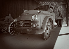 Another View (Anvilcloud) Tags: truck oldtruck wheelers bw htt happytruckthursday