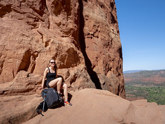 Climbing Cathedral Rock, Sedona (Photograpmorph) Tags: sedona cathedral rock hiking viewpoint american beauty arizona