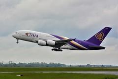 (CDG) Thaï Airways Airbus A380-800 HS-TUA (dadie92) Tags: cdg roissy lfpg airbus a380 a380800 hstua thaï thaïairways takeoff spotting airplane aircraft nikon d7100 tamron danieldanel