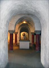 Crypt (pixel_unikat) Tags: konstanz deutschland germany crypt columns light architecture konstanzermünster romanesqueperiod