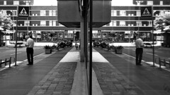 Parallel Worlds (Mattiii photo) Tags: street streetphotography streetphoto streetphotographer streetshot streets str streetitalia streetph streetshots streetphotograph streetlife streetparma streetimage streephotographer streetminimal strada streethsot streetpassioneadwards urbn urbanphotography urban urbanphoto urbanshot urbano reflection reflections reflectionshot two twoworlds parallel similar man one oneperson oneiric blackandwhite blackandwhitephotography blackandwhitephoto blackandwhitephotographer blackandwhiteshot biancoenero bnw blackwhite biancoeneroforever bnwphotography bnwphoto biancoenerofoto bnwshot italia italy italianstreetphotography italianstreetphotographer bolzano bozen bolzanobozen city fine art fineart cityscape citylife love