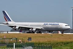 F-GLZU CDG (airlines470) Tags: msn 377 a340313x a340 a340300 air france cdg airport now stored at dgx since feb 2019 fglzu