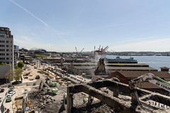 Waterfront transformed by viaduct demo (WSDOT) Tags: seattle gp construction wsdot alaskan way viaduct replacement demolition 2019