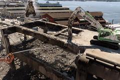 Crunch, munch and spray (WSDOT) Tags: seattle gp construction wsdot alaskan way viaduct replacement demolition 2019