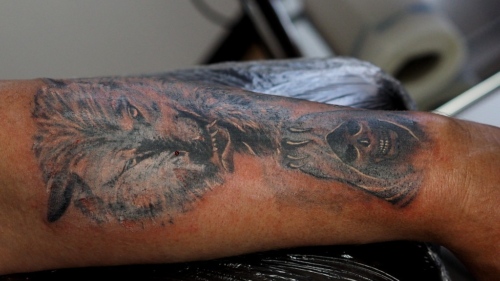 tattoo mann unterarm
