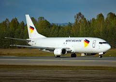 G-NPTZ (Skidmarks_1) Tags: gnptz boeing737 westatlantic cargo freighter engm norway osl oslogardermoenairport aviation aircraft airport airliners