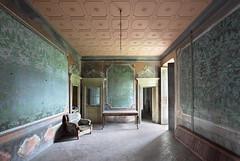 Villa Argento (Sean M Richardson) Tags: abandoned villa vintage wallpaper italia color light decay details texture canon photography explore travel urbex shadows lines architecture