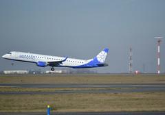 EW-513PO, Embraer ERJ-195LR (ERJ-190-200 LR), c/n 19000754, B2-BRU-Belarus Avia-Belavia Belarusian Airlines, CDG/LFPG 2019-02-17, off runway 27L. (alaindurandpatrick) Tags: ew513po 19000754 erj195 erj embraer embraerregionaljet embraererj195 jetliners airliners b2 bru belarusavia belavia belaviabelarusianairlines airlines cdg lfpg parisroissycdg airports aviationphotography