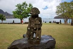 Tiki 2 in Nuku Hiva (jjknitis) Tags: 2019 cruise eurodam hollandamerica island march30 marquesas nukuhiva polynesia southpacific statue tiki