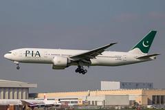 PIA - Boeing 777-240LR AP-BGZ @ London Heathrow (Shaun Grist) Tags: apbgz pk pia pakistaninternationalairlines boeing 777 777240lr shaungrist lhr egll london londonheathrow heathrow airport aircraft aviation aeroplanes airline avgeek landing 27l