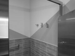 Coat hangers (streetravioli) Tags: street photography maryland washington dc bathroom stall