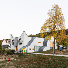 Kindergarten Die Katze. (Stefano Perego Photography) Tags: stepegphotography stefano perego children school postmodern postmodernism cat shaped architecture design ugly building