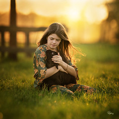 4_I_take_care_of_you_by_ritavoortmanphotography (ritavoortmanbroos) Tags: light sunlight girl magic spring sunset meadow sheep lamb nature