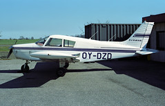 OY-DZD - Roskilde (RKE) 26.04.1997 (Jakob_DK) Tags: p28a pa28140 piper piperaircraft pa28 pipercherokee piperpa28cherokee piperpa28140 piperpa28140cherokee ekrk rke roskildelufthavn roskildeairport copenhagenroskildeairport 1997 fox jetair oydzd