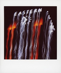Eastern Blur (tobysx70) Tags: fujifilm fuji instax share sp3 square instant film smartphone canon s90 wifi printer eastern columbia building broadway dtla downtown los angeles la california ca neon sign lit illuminated night nocturnal clock motion blur art deco toby hancock photography