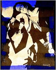 REMY C FOLIE 3 (REMYRO) Tags: light color cool design portrait tableau clean concept illustration art style femme beauty beauté surréaliste couleur lumière peinture aplat sérigraphie bleue gestes