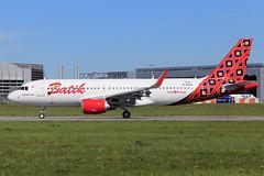 Batik Air  Airbus A320-214 D-AXAX ( PK-LZJ) (widebodies) Tags: hamburg finkenwerder xfw edhi widebody widebodies plane aircraft flughafen airport flugzeug flugzeugbilder batik air airbus a320214 daxax pklzj