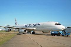 Dc8 62 (LX-TLB) Cargo Lion (boeing-boy) Tags: mikeling boeingboy dc8 cargolion manston lxtlb