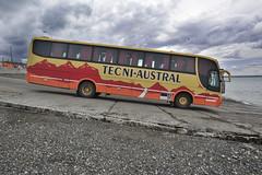 Busweltreise, argent. Bus Patagonien, Fähre magellanstraße Dez 2013