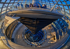 Reichstag Dome (Sarah Marston) Tags: reichstag dome berlin germany bundestag people lookdown april 2019 fisheye samyanglens sony ilce6300