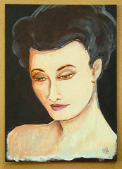 Asian Woman (M.P.N.texan) Tags: acrylic acrylics paint painting portrait woman asian handpainted original mpn