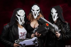 Not So Grim Reapers...[Explore] (Ring of Fire Hot Sauce 1) Tags: cosplay overwatch reaper videogame wondercon fatalsiren shayhaskins shannonblair