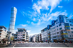 Blue for You (Maria Eklind) Tags: cityscape moln blue skåne sundspromenaden malmö blueforyoume2019 himmel sweden architecture västrahamnen smileonsaturday turningtorso sky skånelän sverige