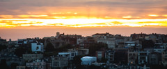 Fire In The Sky (AAcerbo) Tags: sunset sanfrancisco california widescreen cinematic light cityscape urban outoffocus bokeh
