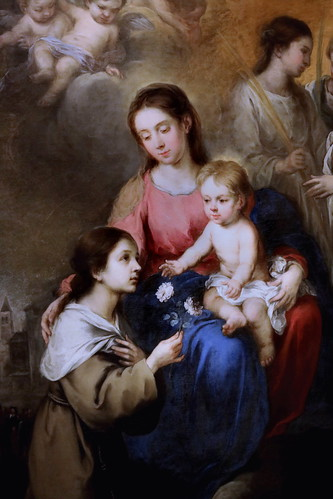 IMG_4620B Bartolomé Esteban Murillo 1617-1682 Sevilla La Vierge et l'Enfant avec Sainte Rose de Viterbe 1670 The Virgin  and Child with Saint Rose of Viterbo 1670 Madrid  Musée Thyssen Bornemisza