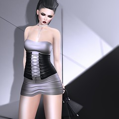 OPIA Siouxsie Dress (Shena Neox) Tags: fashion silver golden leopard maitreya belleza hourglass physique shenaneox dress corset exclusive opia