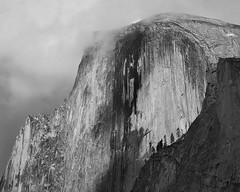 The Face of Half Dome, Yosemite National Park, Spring 2019 (bdrameyphotography) Tags: yosemitenationalpark halfdome yosemitevalley bw monochrome luminar skylum nikond810