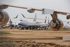 B747 Victorville 26.03.19 (jonf45 - 5 million views -Thank you) Tags: southern california logistics airport victorville march 2019 airliner civil aircraft jet plane flight aviation boneyard scrapyard storage yard china airlines boeing 747