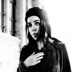She wore a... (marikoen) Tags: streetphotography blackandwhite beret