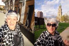 Problem/Problem Solved (Laurette Victoria) Tags: silver sunglasses woman laurette milwaukee downtown