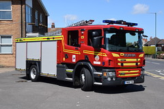 Humberside - YN68YHG - Peaks Lane - WrT (matthewleggott) Tags: humberside fire rescue service engine appliance scania peaks lane grimsby emergency one pump water tender wrt yn68yhg