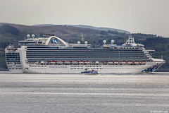 The Princess Cruise Line ship Crown Princess, IMO 9293399; Firth of Clyde, Scotland (Michael Leek Photography) Tags: ship passengervessel passengership cruiseship cruising clyde firthofclyde westcoastofscotland westernscotland strone cowal cowalpeninsula scotland scottishcoastline scottishlandscapes scotlandslandscapes scottishshipping argyllandbute argyll inverclyde gourock workingboat workboat holyloch dunoon michaelleek michaelleekphotography