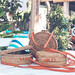 Handmade natural organic rattan handbag. Tropical island of Bali. Eco-bag concept. Ecobags from Bali.