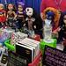 Comic-themed wardrobes and mods for American Girl dolls, Comicpalooza, Houston, Texas, USA