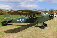 EI-BBV (GH@BHD) Tags: eibbv 480762 piper pa18 j3c65 cub kilkeelderryogeairfield kilkeel derryoge usaf unitedstatesairforce unitedstatesarmy military warbird aircraft aviation