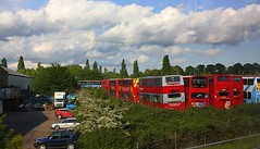 Lots of Buses at Purfleet (Chris Baines) Tags: ensignbus depot purfleet taken from train