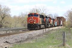 Over the Peshtigo River (Acronym Railroad) Tags: cn 2317 es44dc canadian national ge general electric gevo peshtigo wisconsin railroad locomotive